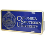 CSU Aluminum License Plate