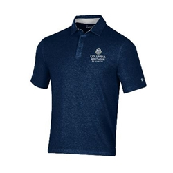 UA Charged Cotton Heathered Navy Polo
