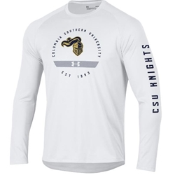 UA White L/S Tech Tee